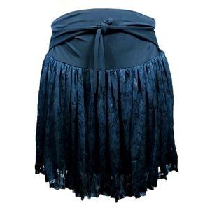 Black lace soft cute mini skirt size 32 Large